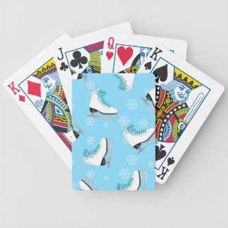 Figure Skating - Ice Skates Blue with Snowflakes Bicycle Playing Cards
