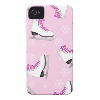 Figure Skating - Ice Skates Pink with Snowflakes iPhone 4 Cover