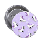 Figure Skating - Ice Skates Purple with Snowflakes 2 Inch Round Button