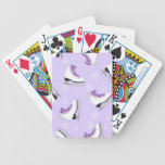 Figure Skating - Ice Skates Purple with Snowflakes Bicycle Playing Cards
