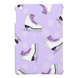 Figure Skating - Ice Skates Purple with Snowflakes iPad Mini Cover