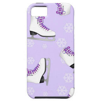 Figure Skating - Ice Skates Purple with Snowflakes iPhone SE/5/5s Case