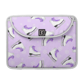 Figure Skating - Ice Skates Purple with Snowflakes Sleeve For MacBook Pro