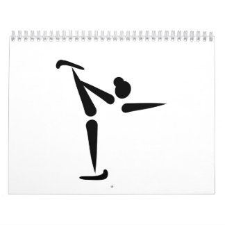 Figure skating icon calendar