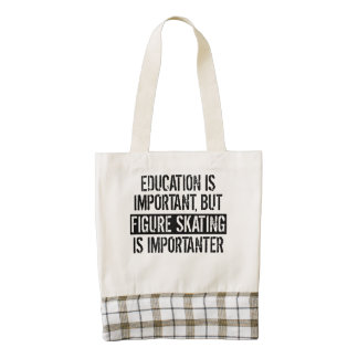 Figure Skating Is Importanter Zazzle HEART Tote Bag