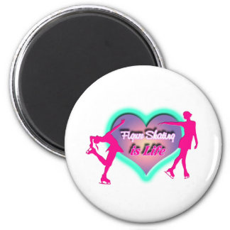 Figure Skating is Life - Heart & Two Skaters Magnet