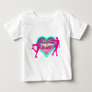 Figure Skating is Life - Heart & Two Skaters T-shirt