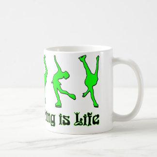 Figure Skating is Life - Lime Coffee Mug