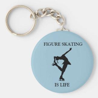 Figure Skating IS LIFE Round Keychain
