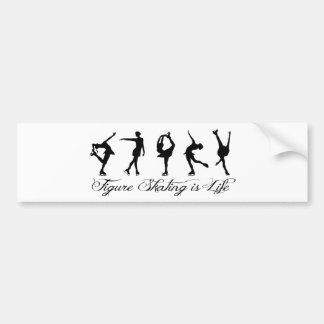 Figure Skating is Life - Script Skaters Bumper Sticker