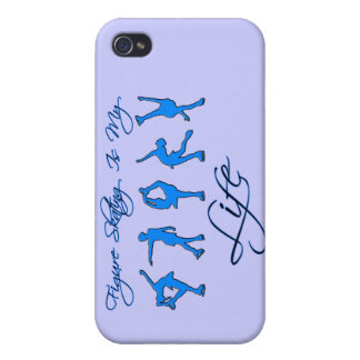 figure skating is my life- blue cases for iPhone 4