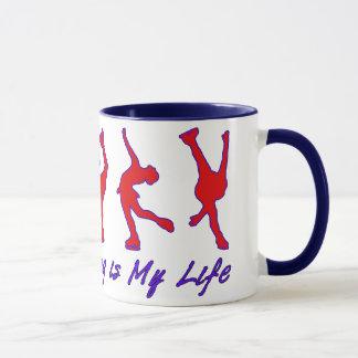 Figure Skating is My Life - Red, White & Blue Mug
