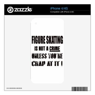 Figure Skating is not a crime Decal For The iPhone 4S