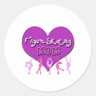 Figure Skating MOM Classic Round Sticker