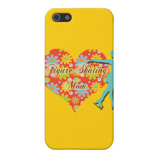 Figure Skating Mom - Flowers/Heart/Skater Case For iPhone SE/5/5s