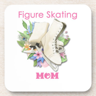 Figure Skating Mom Gift Best Pink Drink Coaster