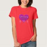 Figure Skating MOM Purple Heart (Black Sweatshirt) T-Shirt