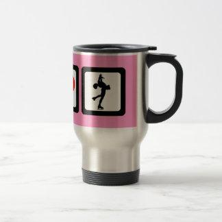 Figure skating stainless steel travel mug
