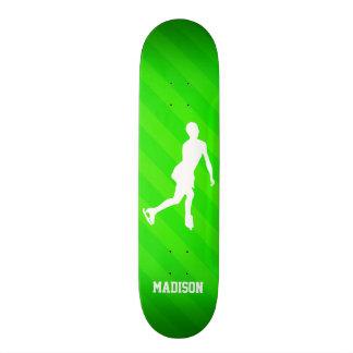 Figure Skating; Neon Green Stripes Skateboards