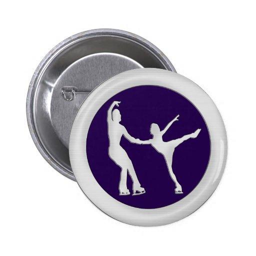 Figure Skating Pair 2 Inch Round Button