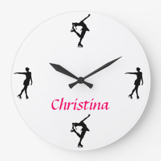 Figure Skating Personalized Clock