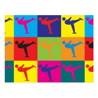 Figure Skating Pop Art Postcard