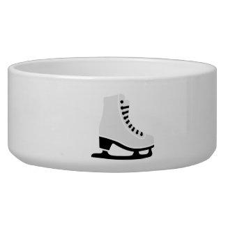 Figure skating skate dog food bowls