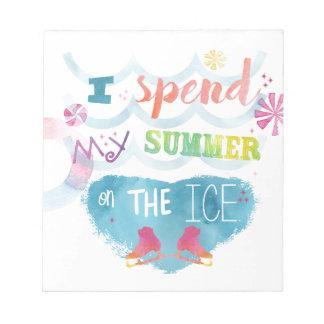 Figure Skating Summer Gifts Notepad