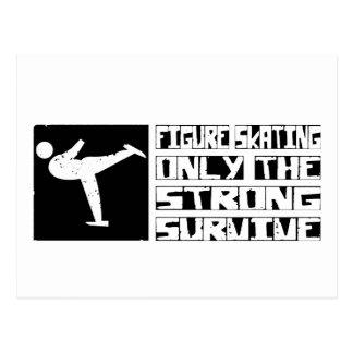 Figure Skating Survive Postcard
