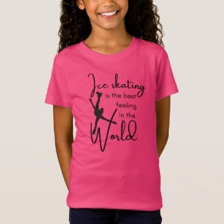 Figure Skating T-shirt Best feeling black pink