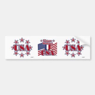 Figure Skating USA Bumper Sticker