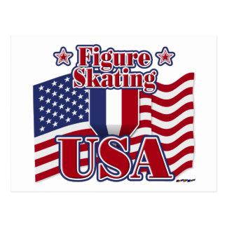 Figure Skating USA Postcard
