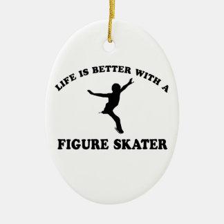 Figure Skating Vector Designs Ornaments