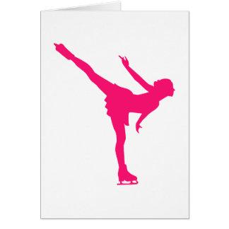 Figure skating woman greeting card