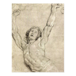 Figure Study of Christ by Paul Rubens Post Cards