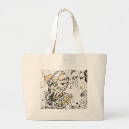 Figure Toy Large Tote Bag