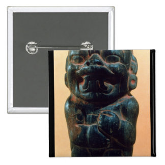 Figure with the head of a Jaguar Button