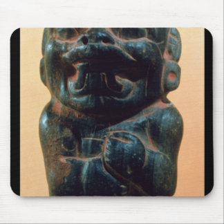 Figure with the head of a Jaguar Mousepads