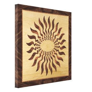 Figured Walnut Grain Print with Inlay Design