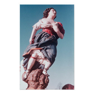 Figurehead from unknown sailing ship poster