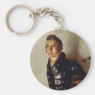 Figurehead in naval uniform from sailing ship ring key chains