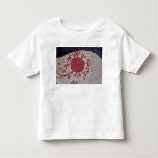 Figures and animals around a sun toddler t-shirt