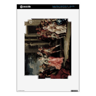 Figures Dancing Outside a Palace (pair with 59640) iPad 3 Skin