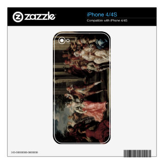 Figures Dancing Outside a Palace (pair with 59640) Skins For iPhone 4
