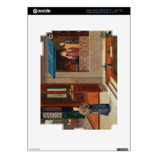Figures in a dressing room interior iPad 3 decal