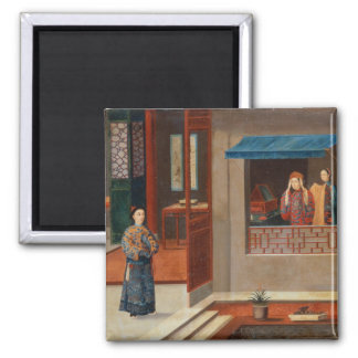 Figures in a dressing room interior magnet