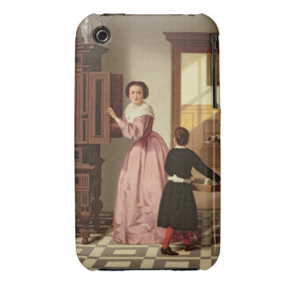 Figures in a Laundryroom, 1864 (oil on canvas) iPhone 3 Case-Mate Cases