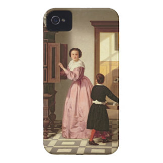 Figures in a Laundryroom, 1864 (oil on canvas) iPhone 4 Case-Mate Case