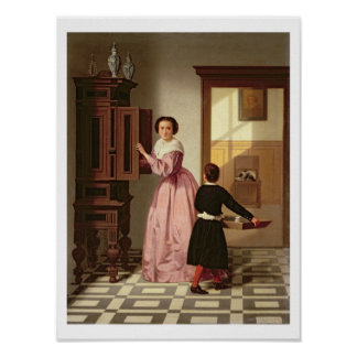 Figures in a Laundryroom, 1864 (oil on canvas) Poster