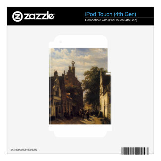 Figures in a Street in Delft by Cornelis Springer Decals For iPod Touch 4G